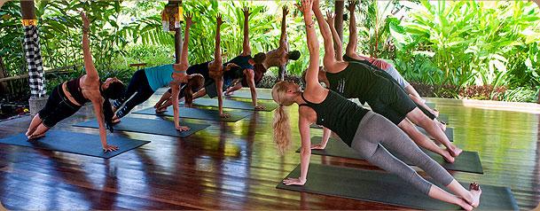 Outdoor Yoga Studio At Desa Seni Resort